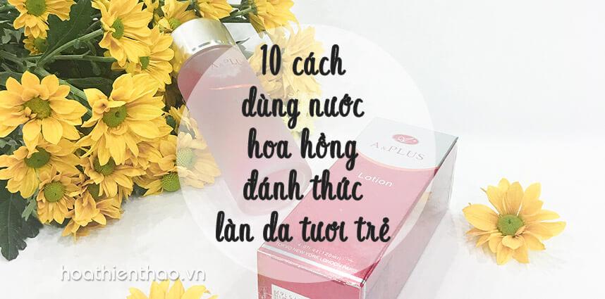 10 cách dùng nước hoa hồng đánh thức làn da tươi trẻ - Hoa Thiên Thảo