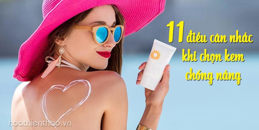 11 điều cần biết trước khi chọn kem chống nắng