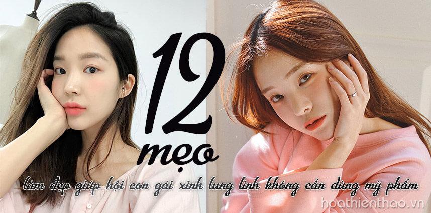12 mẹo làm đẹp không cần dùng mỹ phẩm - Hoa Thiên Thảo Cosmetics