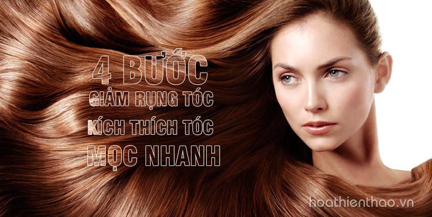 4 Bước giảm rụng tóc kích thích tóc mọc nhanh