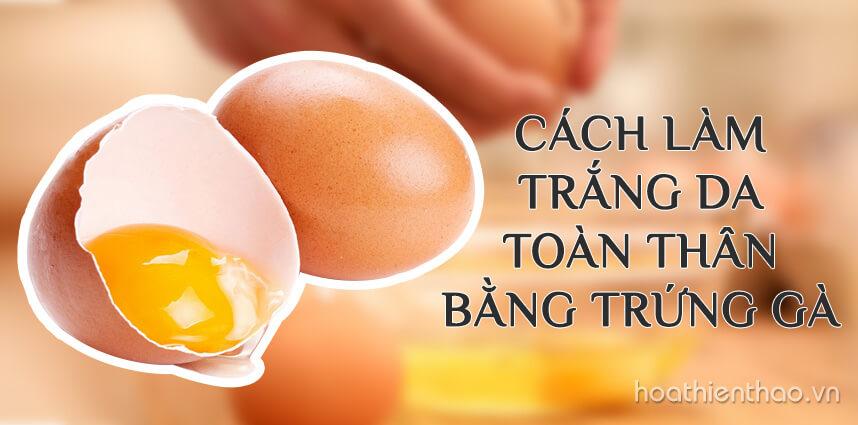 Cách làm trắng da toàn thân bằng trứng gà bạn nên biết