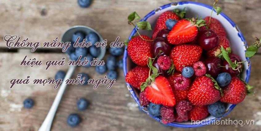 Ngăn ngừa nám da hiệu quả với quả mọng mỗi ngày