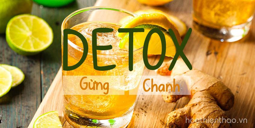 Eo thon chạm rốn nhờ uống nước detox gừng chanh mỗi ngày