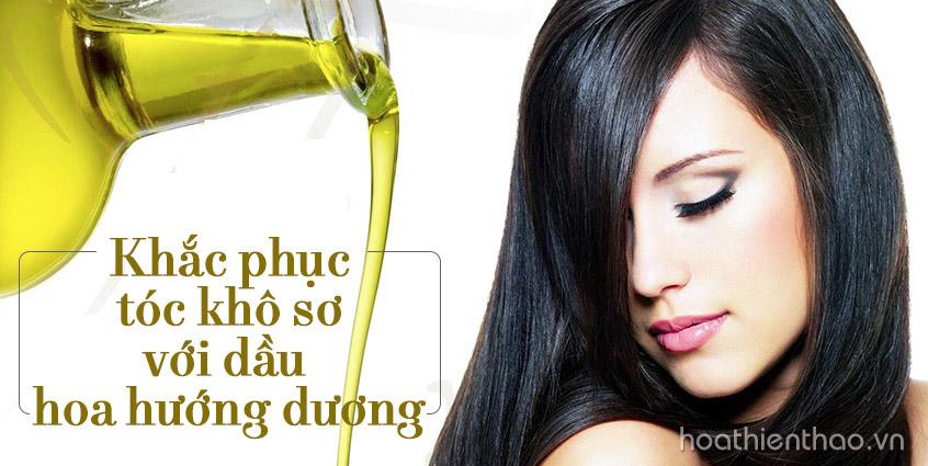 Khắc phục tóc khô sơ với dầu hoa hướng dương