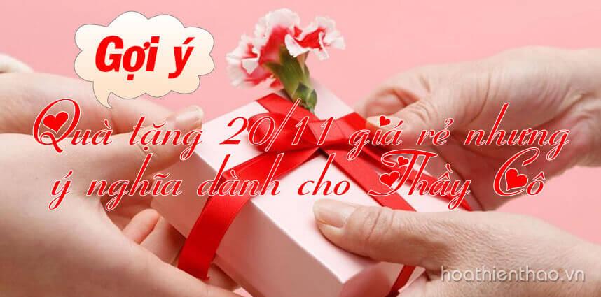 Gợi ý quà tặng 20/11 giá rẻ nhưng ý nghĩa dành cho Thầy Cô - Hoa Thiên Thảo