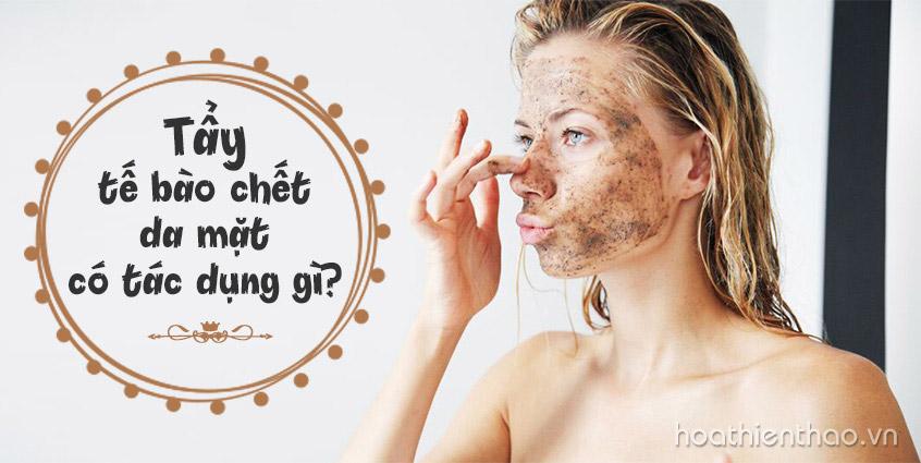 Tẩy tế bào chết da mặt có tác dụng gì - Hoa Thiên Thảo