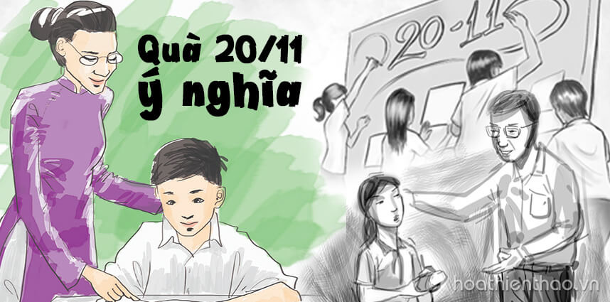 Những món quà 20/11 ý nghĩa cho thầy cô giáo - Hoa Thiên Thảo