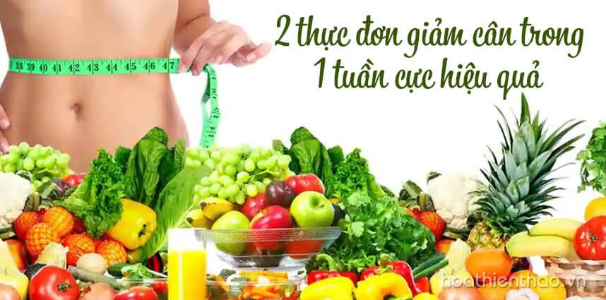 2 thực đơn giảm cân trong 1 tuần cực hiệu quả - Hoa Thien Thao Cosmetics