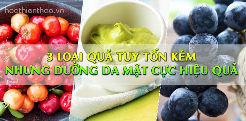 3 loại quả tuy tốn kém nhưng dưỡng da mặt - Hoa Thien Thao