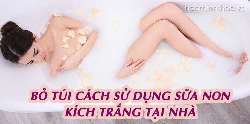 Bỏ túi cách sử dụng sữa non kích trắng tại nhà - Hoa Thiên Thảo