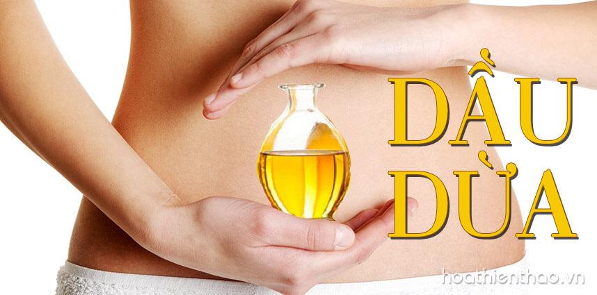 Cách trị rạn da sau sinh bằng dầu dừa - hoathienthaovn