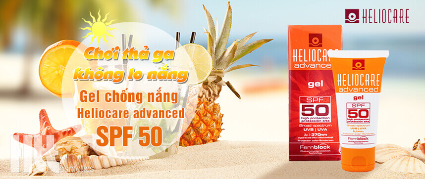 Review gel chống nắng Heliocare SPF50 - HoaThienThao