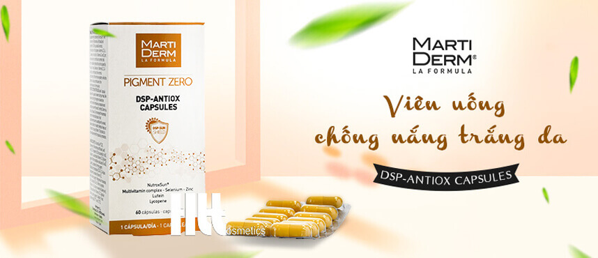 Review viên uống chống nắng trắng da MartiDerm DSP - HoaThienThao