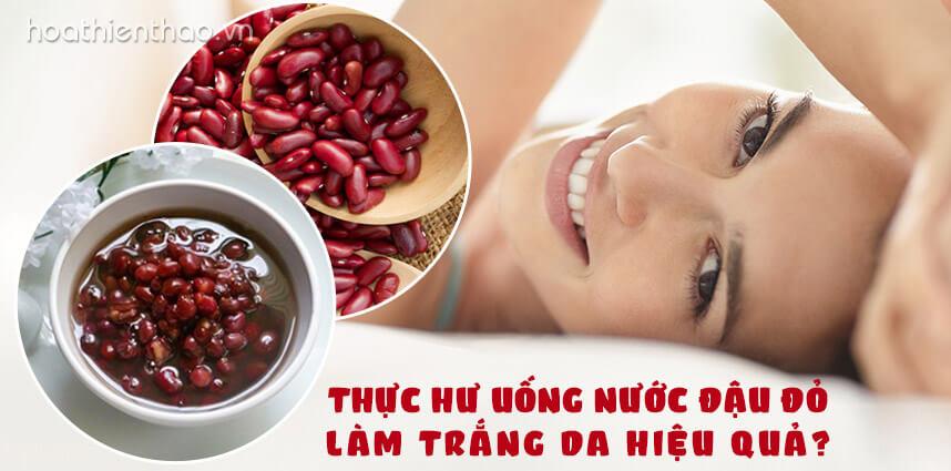 Uống nước đậu đỏ làm trắng da hiệu quả - Hoa Thiên Thảo