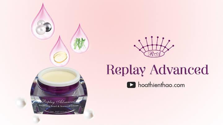 Kem dưỡng trắng da mặt Replay Advanced SPF 50 - Hoa Thiên Thảo