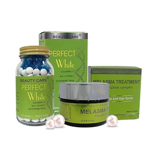 Bộ kem trị nám dưỡng trắng chống lão hóa Beauty Care - Hoa Thiên Thảo