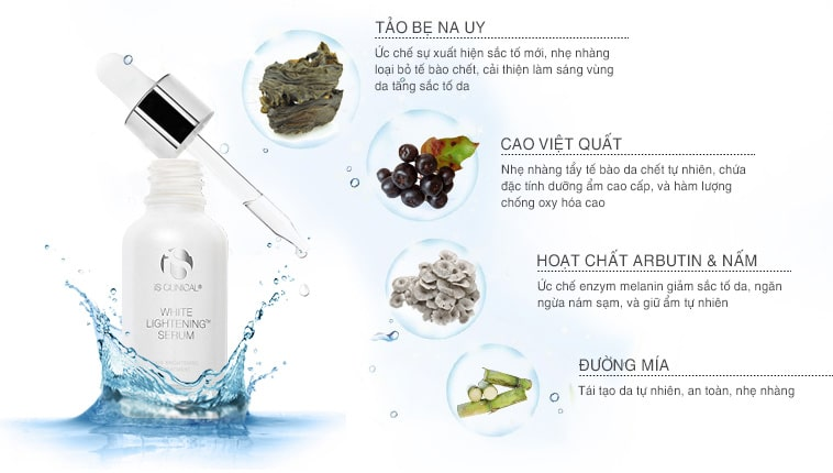 Serum dưỡng trắng da giảm nám iS Clinical White Lightening