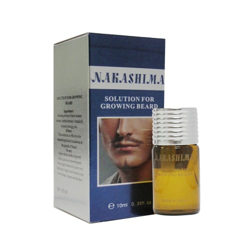 Serum mọc râu Nakashima Solution For Growing Beard - Hoa Thiên Thảo