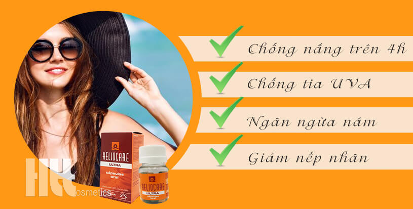 Viên uống chống nắng Heliocare Ultra Oral - HoaThienThao