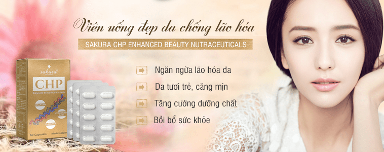 Viên uống đẹp da Sakura CHP Enhanced Beauty Nutraceuticals